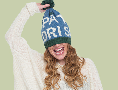 Funny hat with Norwegian quote in A Knit Storys Vol.2 yarn